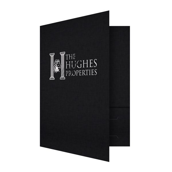 Commercial Real Estate Folders for Hughes Properties (Front Open View)