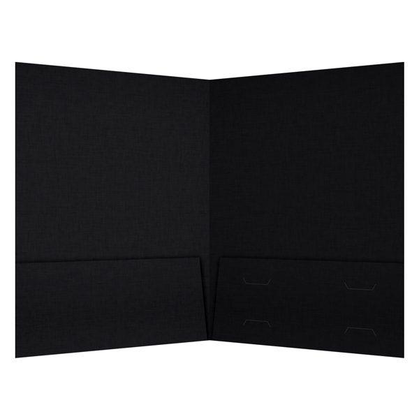 Hughes Properties Black Real Estate Folder (Inside View)