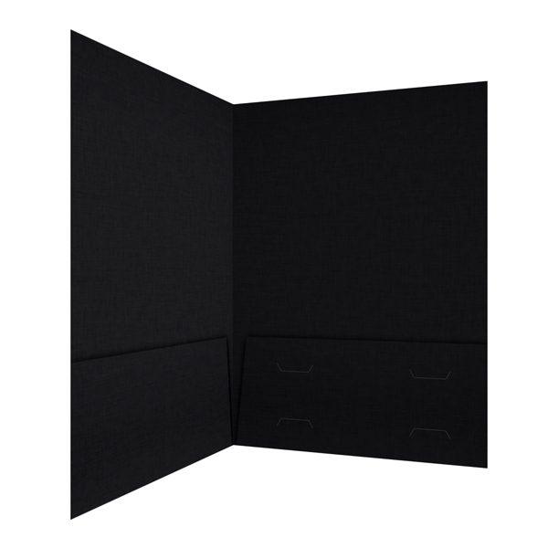 Hughes Properties Black 2-Pocket Folder (Inside Right View)