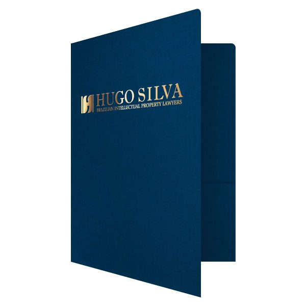 Lawyer Presentation Folders for Hugo Silva (Front Open View)