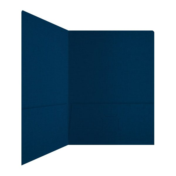 Hugo Silva Dark Blue 2-Pocket Folder (Inside Right View)
