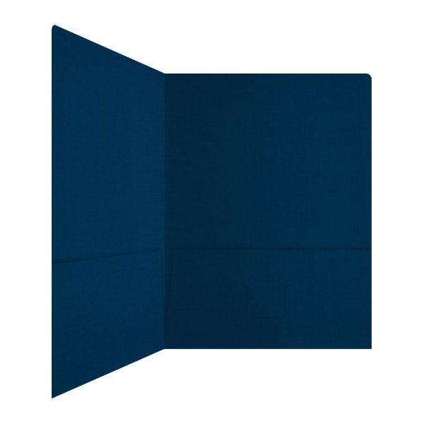 Hugo Silva Dark Blue 2-Pocket Folder (Inside Right View)