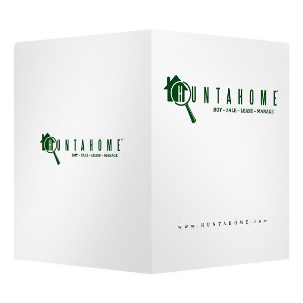 Huntahome Real Estate Business Folder (Front and Back View)
