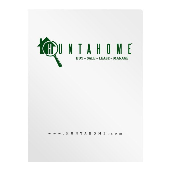 Huntahome Personalized Real Estate Folder (Front View)