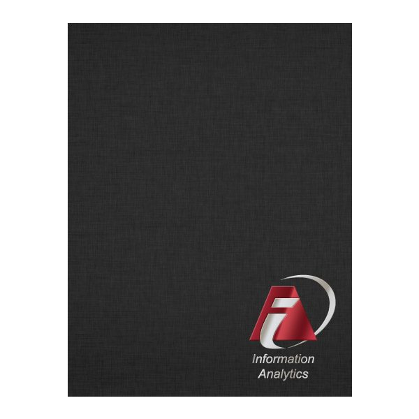 IAS Foil & Linen Pocket Folder (Front View)