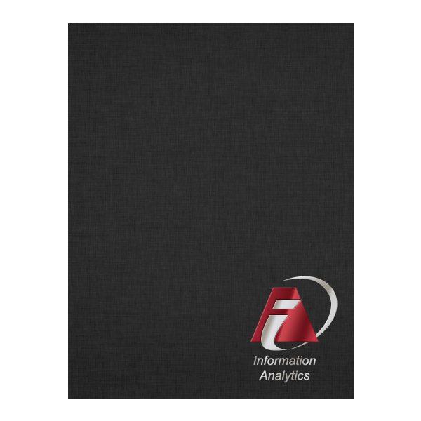 IAS Foil & Linen Pocket Folder (Front View)