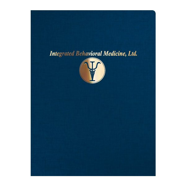 IBM Foil Stamped Presentation Folder (Front View)