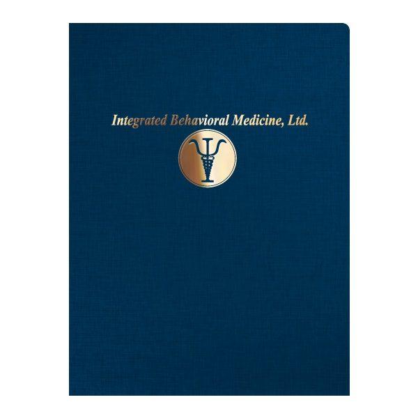 IBM Foil Stamped Presentation Folder (Front View)