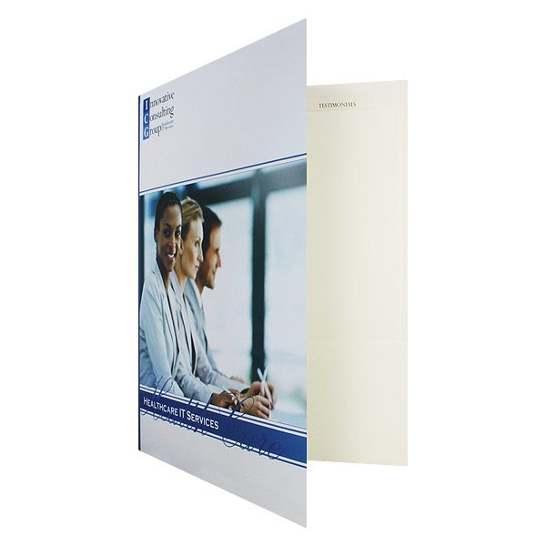 ICG 2-Pocket Folder (Front Open View)