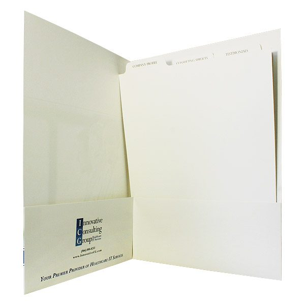 ICG's Personalized Folder with Two Pockets (Inside View)