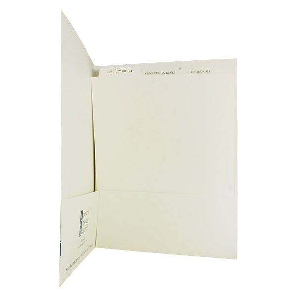 ICG Personalized Pocket Folders with Tabbed Inserts (Inside Tab View)