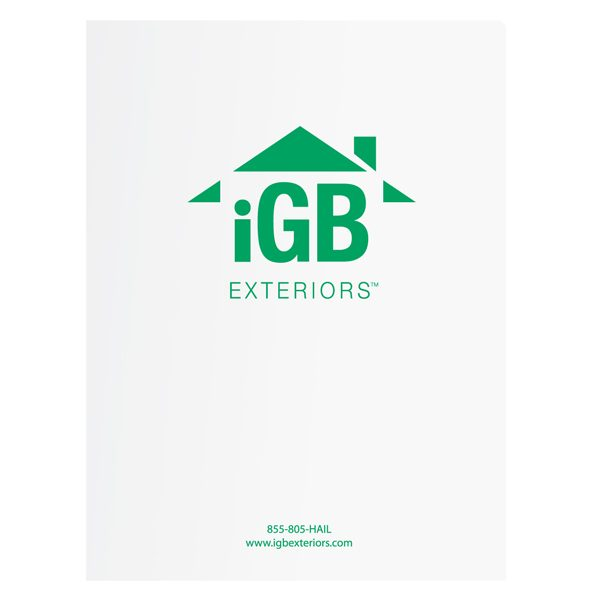 iGB Exteriors Glossy Pocket Folder (Front View)