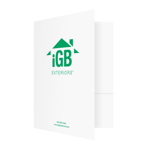 Glossy Pocket Folders for iGB Exteriors (Front Open View)