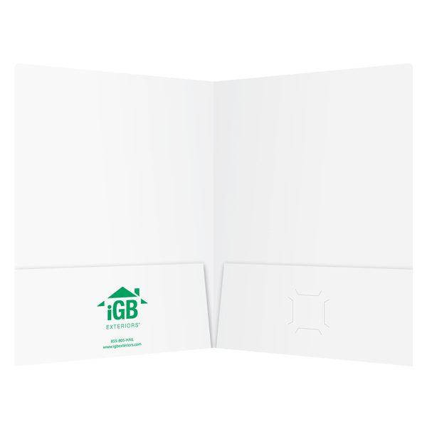 iGB Semi-Gloss 2-Pocket Folder (Inside View)