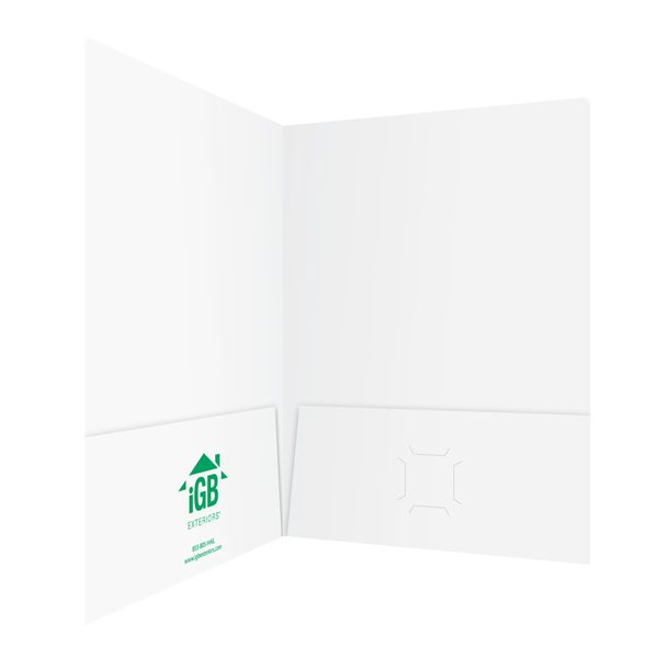 iGB Glossy White Pocket Folder (Inside Right View)