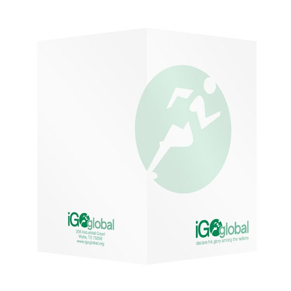 iGo Global Runner Logo Marketing Folder (Front and Back View)