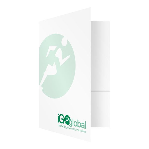 iGo Global Christian Evangelism Presentation Folder (Front Open View)