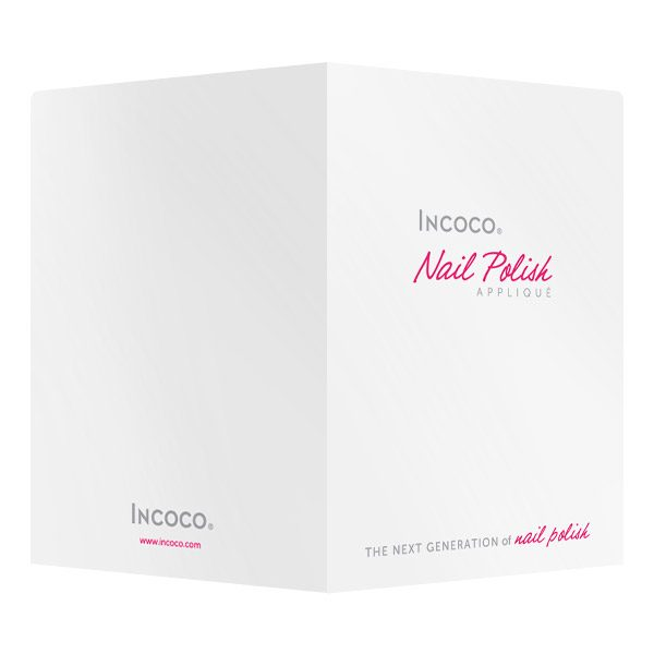 Incoco Pink Logo Pocket Folder (Front and Back View)