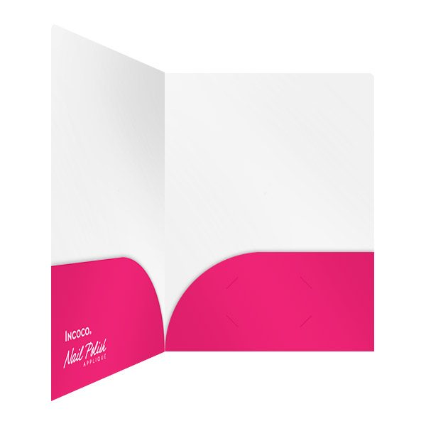 Incoco Pink Folder with Pockets (Inside Right View)