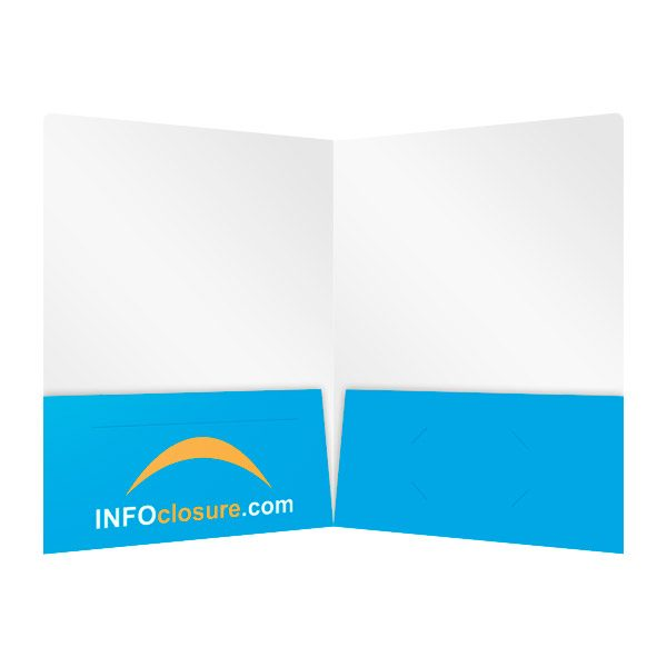 INFOclosure.com Double Pocket Folder (Inside View)