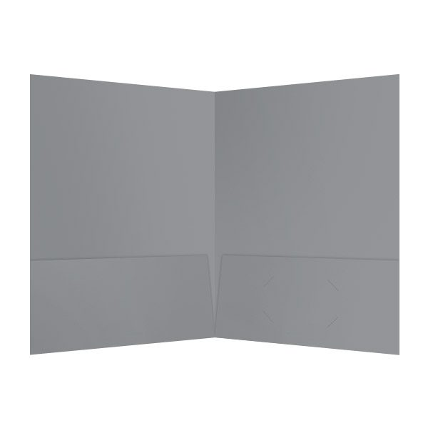 InfoImage Silver Pocket Folder (Inside View)
