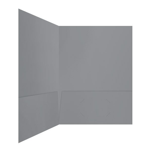 InfoImage Gray 2-Pocket Folder (Inside Right View)
