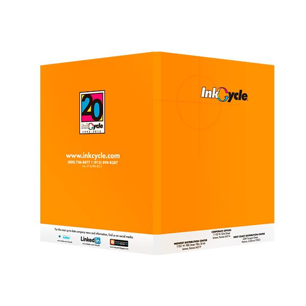 InkCycle Social Media Presentation Folder (Back View)
