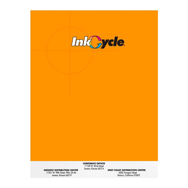 InkCycle CMYK Logo Presentation Folder (Front View)