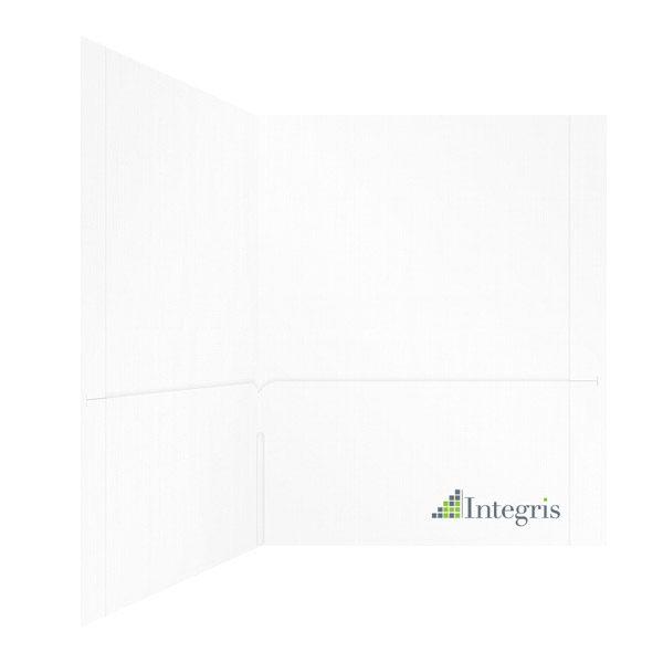 Integris 2-Pocket Logo Folder (Inside Right View)