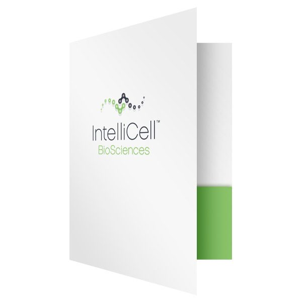 Medical Pocket Folders for IntelliCell BioSciences (Front Open View)