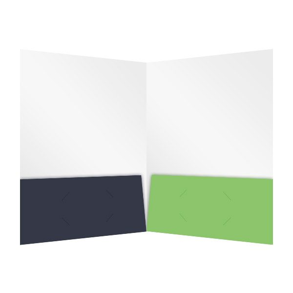 IntelliCell BioSciences Green and Black Pocket Folder (Inside View)
