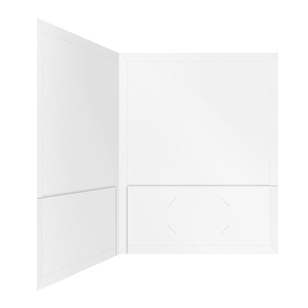 Interboro RHIO Blank White Pocket Folder (Inside Right View)