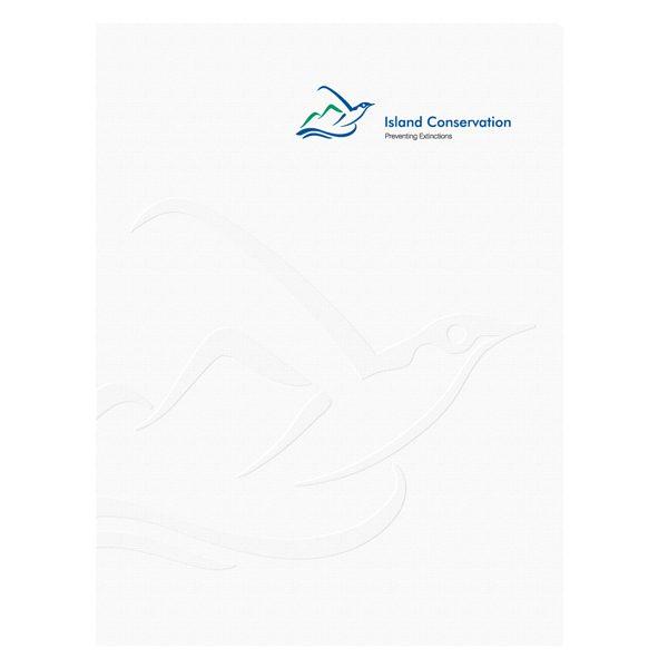 Island Conservation Embossed Presentation Folder (Front View)