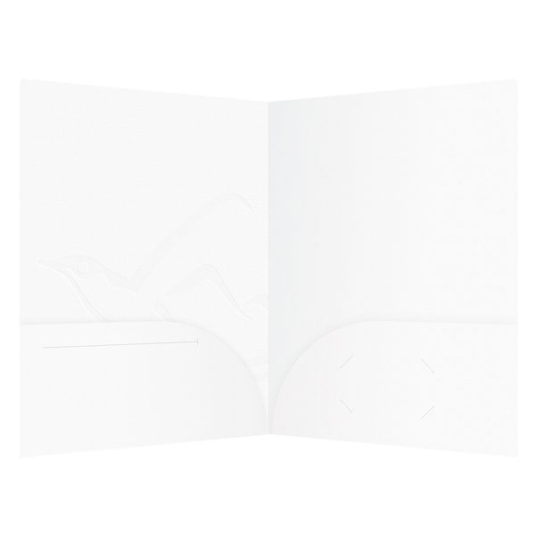 Island Conservation Blank White 2-Pocket Folder (Inside View)