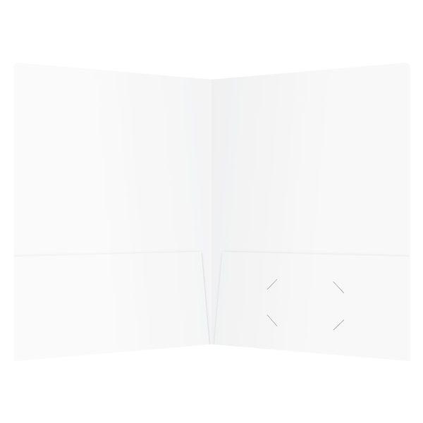 ISSI Plain Pocket Folders (Inside View)
