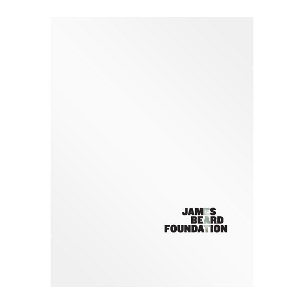 James Beard Foundation Culinary Presentation Folder (Front View)