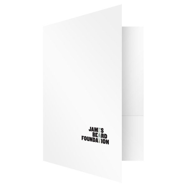 James Beard Nonprofit Organization Presentation Folder (Front Open View)
