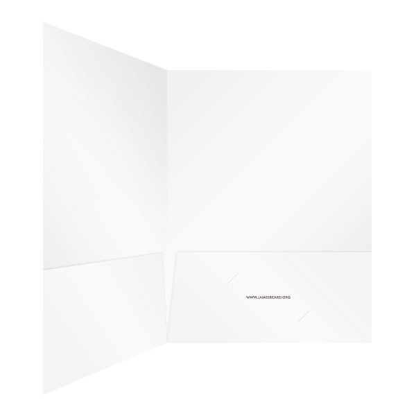 James Beard Foundation White 2-Pocket Folder (Inside Right View)