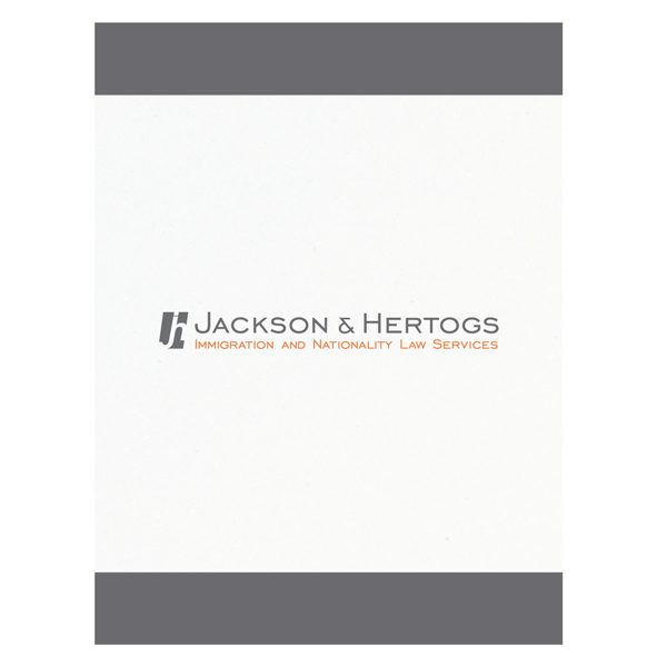 Jackson & Hertogs Double Pocket Folder (Front View)