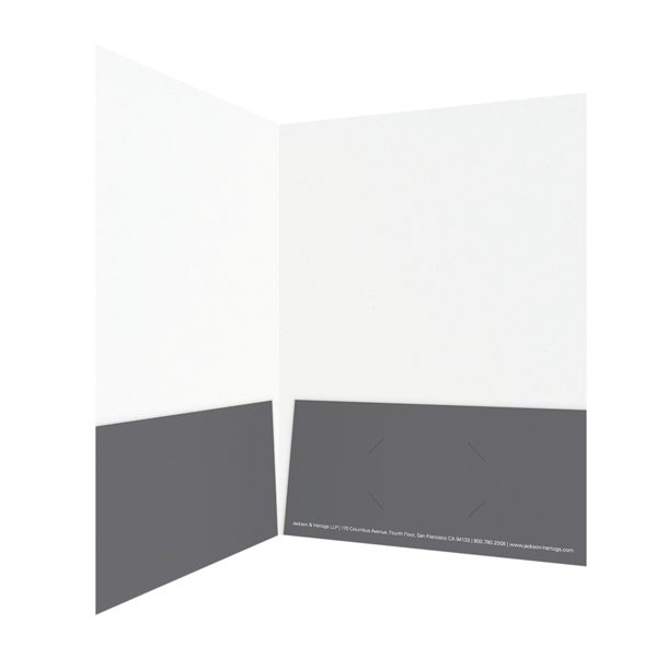 Jackson & Hertogs Grey Pocket Folder (Inside Right View)