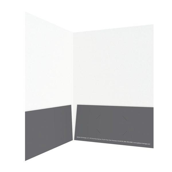 Jackson & Hertogs Grey Pocket Folder (Inside Right View)