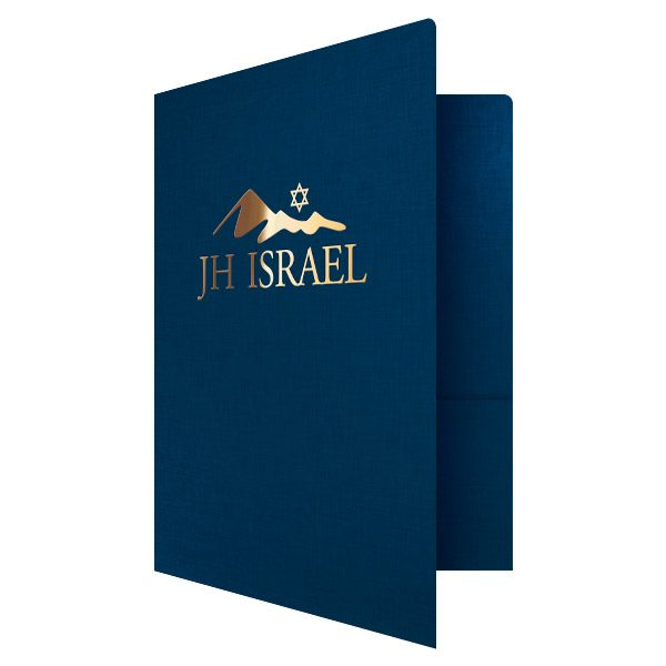 Foil Presentation Folder for JH Israel (Front Open View)