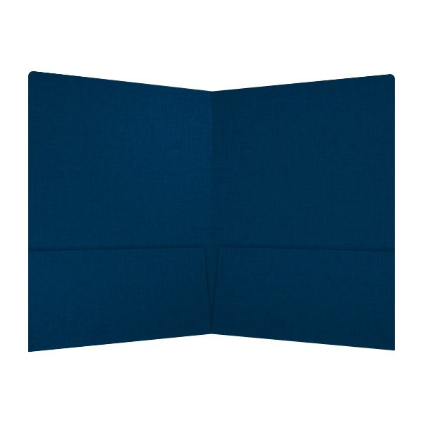 JH Israel Open Blue Pocket Folder (Inside View)
