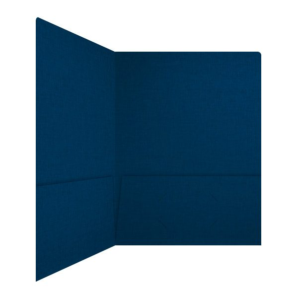 JH Israel Midnight Blue 2-Pocket Folder (Inside Right View)