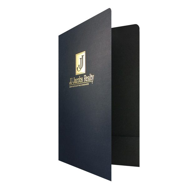 Legal Size Real Estate Folders for JJ Jacobs (Front Open View)