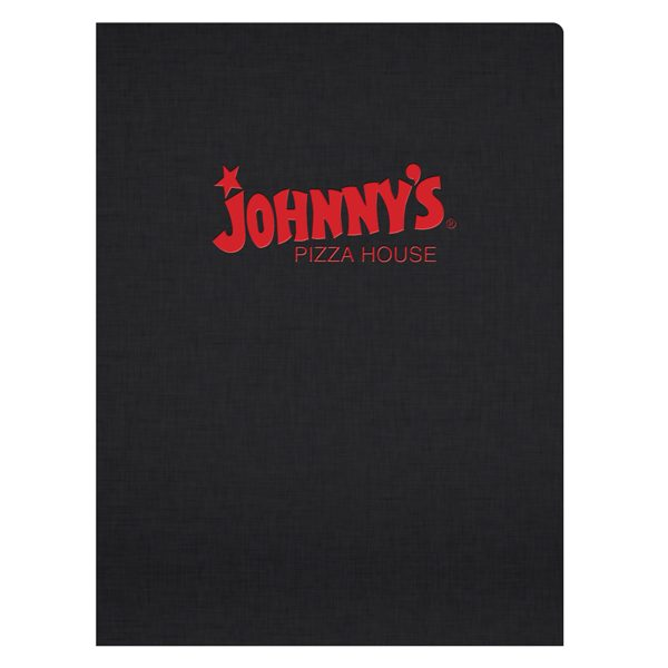 Johnny's Pizza House Foil Stamped Folder (Front View)