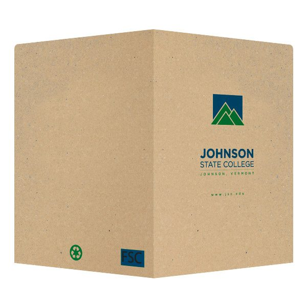 JSC Mountain Logo Presentation Folder (Front and Back View)