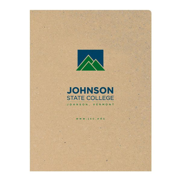 Johnson State College Kraft Presentation Folder (Front View)