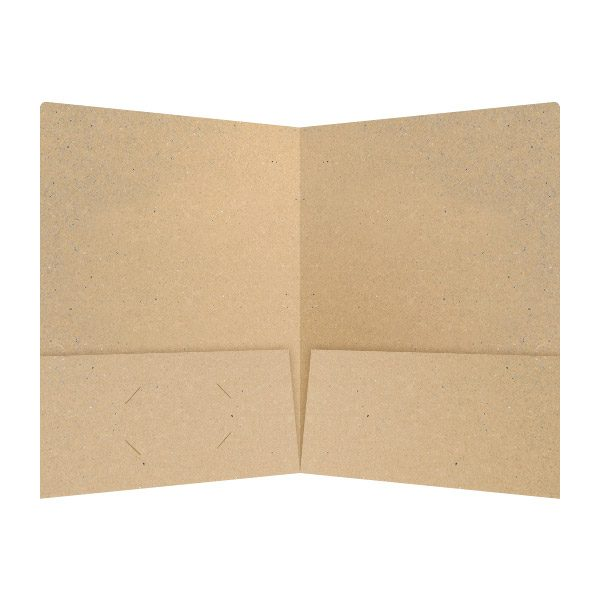 JSC Eco-Friendly Kraft Stock Folder (Inside View)