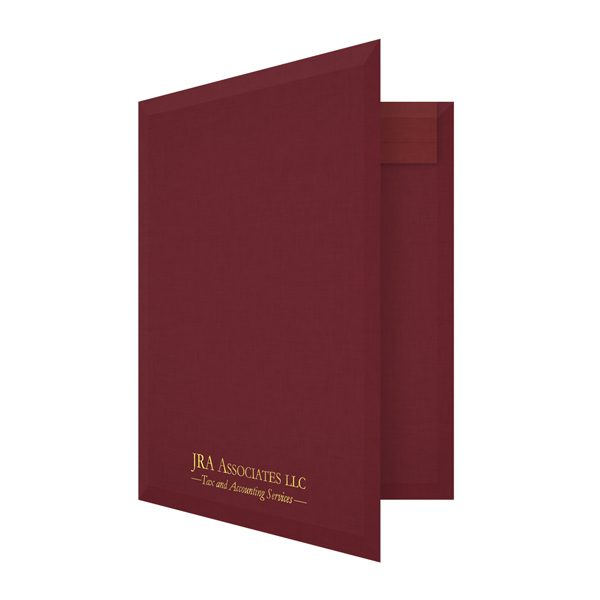 JRA Associates Foil Stamped Accounting Folder (Front Open View)